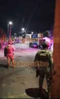 Veracruz, Ver., 3 de marzo de 2021.- Fuerte operativo se registra la noche de este miércoles en las calles 5 y Laguna del Rosario de la Unidad Habitacional El Coyol. La zona fue cercada por elementos de la SSP, Naval, Municipal, Guardia Nacional y Ministeriales.