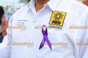 Veracruz, Ver., 7 de marzo de 2021.- Perredistas conmemoraron el Día Internacional de la Mujer y pidieron un alto a la violencia que sufre este género en el Estado.