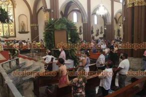 Xalapa, Ver., 11 de abril de 2021.-El Arzobispo de la Arquidiócesis de Xalapa, Hipólito Reyes Larios este domingo pidió a la feligresía que lean el mensaje de Pascua de los obispos que integran la Provincia Eclesiástica de Xalapa publicado en las redes sociales de la Arquidiócesis.