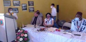 """Jilotepec, Ver., 11 de abril de 2021.- El príncipe exiliado de Camerún y activista Jean Louis Bingna recibió las Llaves del Municipio. Al recordar la """"lucha de todos los pueblos originarios mexicanos"""", destacó que en Veracruz se dio el """"primer hombre libre"""": Yanga."""