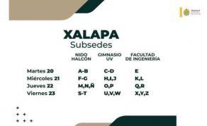 Xalapa, Ver., 16 de abril de 2021.- Junto al secretario de Educación, Zenyazen Escobar, el gobernador Cuitláhuac García confirmó que los docentes de la entidad serán vacunados por orden alfabético de este martes 20 al sábado 24 de abril, detallando en dónde estarán los módulos.