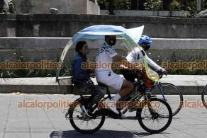 Ciudad de México, 18 de abril de 2021.- Miles de personas de todas las edades participaron en el paseo dominical ciclista.
