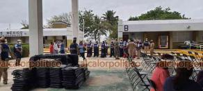 Coatzacoalcos, Ver., 19 de abril de 2021.- La Secretaría de Marina lleva a cabo simulacro en coordinación con la Secretaría de Educación de Veracruz (SEV) y la Jurisdicción Sanitaria número XI en las instalaciones del ITESCO, previo a la jornada de vacunación a docentes de 30 municipios del sur de Veracruz.