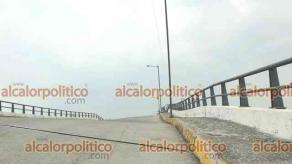 """Veracruz, Ver., 5 de mayo de 2021.- Construido en la administración de Julen Rementería, el puente """"Jiménez"""" desde un inicio generó desconfianza porque pareciera estar mal construido."""