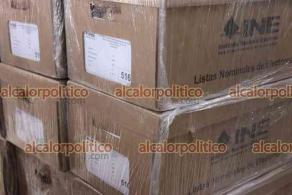 Xalapa, Ver., 6 de mayo de 2021.- La Vocalía del Registro Federal de Electores del Instituto Nacional Electoral (INE) en el estado de Veracruz, recibió los 10 mil 761 cuadernos en 550 cajas que contienen la Lista Nominal Definitiva.