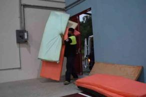 Xalapa, Ver., 12 de mayo de 2021.- Los refugios temporales fueron instalados en el gimnasio del FOVISSSTE y el Centro de Gestión Comunitaria Norte, ubicado en la colonia Rafael Lucio.
