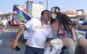 Veracruz, Ver., 16 de mayo de 2021.- Cientos de integrantes de la comunidad y simpatizantes participaron en la Caravana del Orgullo LGBTTI+ en patines, bicicletas o vehículos. También hubo batucadas y hasta carros alegóricos.