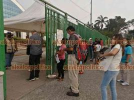 Veracruz, Ver., 17 de mayo de 2021.- En el módulo del auditorio