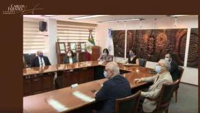 Xalapa, Ver., 18 de mayo de 2021.- Al inaugurar la Cátedra Internacional Carlos Fuentes, la rectora de la Universidad Veracruzana, Sara Ladrón, destacó que la pandemia multiplicó los alcances de este evento, pues ahora se difundirá por Internet.