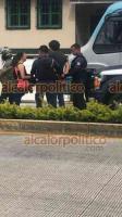 Coatepec, Ver., 13 de junio de 2021.- Un automóvil y una pareja que iba a bordo de una motocicleta chocaron en el bulevar Xalapa-Coatepec, al la altura de la gasolinera en la entrada al Pueblo Mágico. El conductor de la moto iba en presunto estado de ebriedad y fue detenido. No hubo heridos.