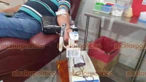 Coatzacoalcos, Ver., 15 de junio de 2021.- El banco de sangre del Hospital Regional atiende a 12 hospitales no sólo de la zona, sino incluso de otros Estados.