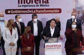 Ciudad de México, 16 de junio de 2021.- El presidente de MORENA, Mario Delgado, y los 11 gobernadores electos buscarán nueva relación con el Presidente y la reestructuración de la CONAGO. Advierten que de no llegar a acuerdos crearán un bloque paralelo a la alianza federalista.