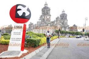 """Ciudad de México, 17 de junio de 2021.- Por los 50 años """"Halconazo"""", asesinato de estudiantes en 1971, un """"antimonumento"""" más se sumó a aquellos que claman justicia por casos como la Guardería ABC, Ayotzinapa, Tlatelolco, feminicidios o Pasta de Conchos."""