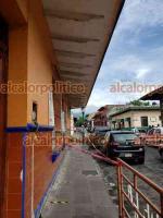 """Coatepec, Ver., 24 de junio de 2021.- Alero del Jardín de Niños """"Rosas de la Infancia"""" se está desprendiendo. Directora expone que autoridades no han atendido petición de rehabilitación."""