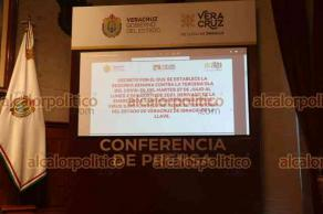 Xalapa, Ver., 24 de julio de 2021.- El gobernador Cuitláhuac García adelantó que se implementará un nuevo decreto para afrontar la tercera ola de COVID, que regirá del 27 de julio al 2 de agosto.