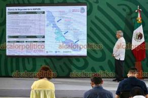 Veracruz, Ver., 26 de julio de 2021.- El presidente Andrés Manuel López Obrador dio conferencia de prensa desde el Museo Naval. Lo acompañó el gobernador Cuitláhuac García Jiménez y miembros del gabinete federal.