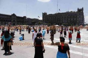Ciudad de México, 26 de julio de 2021.- Cientos de danzantes, músicos y creadores de ofrendas participaron en el 696 aniversario de la fundación de México-Tenochtitlán. Los participantes impulsan la lucha por la identidad, tradiciones y cultura mexica.