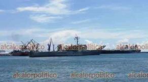 Veracruz, Ver., 28 de julio de 2021.- Tras la partida del ARM Libertador este martes, ahora el buque ARM Papaloapan salió rumbo a Cuba, cargado de ayuda humanitaria.