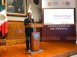 Xalapa, Ver., 29 de julio de 2021.- En conferencia, el gobernador Cuitláhuac García informó sobre estado de la pandemia en Veracruz y el plan de vacunación. Reiteró el exhorto a la población a seguir medidas preventivas contra el COVID-19.