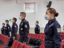 Emiliano Zapata, Ver., 30 de julio de 2021.- Mediante ceremonia virtual, el subsecretario de Operaciones de SSP, Cuauhtémoc Zúñiga Bonilla, en representación del titular, Hugo Gutiérrez, tomó protesta a los nuevos efectivos.