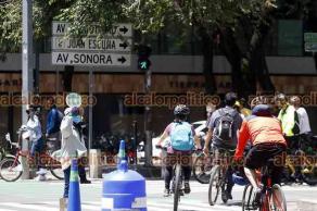 Ciudad de México, 1° de agosto de 2021.- Los capitalinos disfrutaron del paseo dominical ciclista en las principales avenidas de la ciudad.
