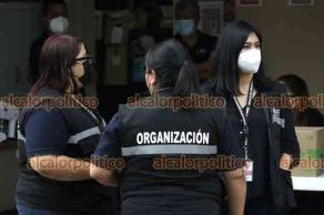 Xalapa, Ver., 1 de agosto de 2021.- En la Junta Distrital Ejecutiva del INE comenzaron a recibir los resultados de la Consulta Popular.