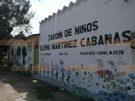 Veracruz, Ver., 2 de agosto de 2021.- Docentes del Jardín de Niños
