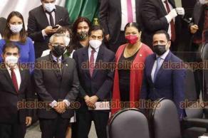 Ciudad de México, México, 3 de agosto de 2021.- Ante el pleno de la Cámara de Diputados, Rogelio Ramírez de la O rindió protesta como Secretario de Hacienda. Posteriormente saludó a la presidenta, Dulce María Sauri.