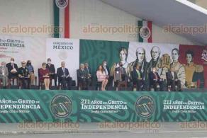 Ciudad de México, 16 de septiembre de 2021.- El presidente Andrés Manuel López Obrador, acompañado por su homólogo de Cuba, Miguel Díaz-Canel, presidió el desfile militar por el 211 aniversario de la Independencia de México.