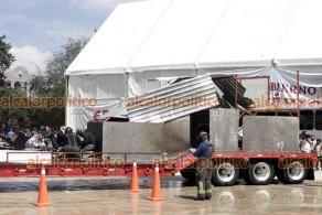 Ciudad de México, 19 de septiembre de 2021.- En el Monumento a la Revolución, personal de emergencias médicas, rescate urbano y marítimo de la Marina, Ejército Mexicano, ERUM y Bomberos de la CDMX participaron en el Megasimulacro.