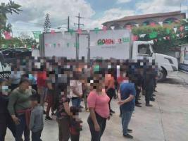 24 de septiembre de 2021.- Los 156 migrantes procedentes de Brasil, Ecuador, Guatemala, Honduras, El Salvador, Nicaragua y Haití, recibieron atención médica y alimentación; posteriormente fueron trasladados a las instalaciones del Instituto Nacional de Migración (INM).