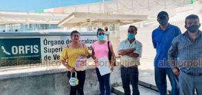 Xalapa, Ver., 27 de septiembre de 2021.- Ciudadanos del municipio de Juchique de Ferrer se manifestaron en el ORFIS. Exigen que les aclaren irregularidades en obras de dicho municipio.