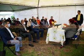 Xalapa, Ver., 22 de octubre de 2021.- La auditora del ORFIS, Delia González Cobos, encabezó la reunión con integrantes de la asociación Otero Ciudadano, que preside Leonor de la Miyar.