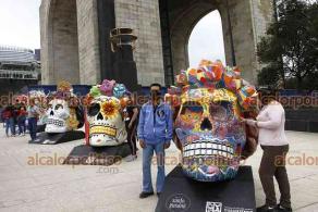 Ciudad de México, 24 de octubre de 2021.- En la explanada del Monumento a la Revolución, se exhibe la exposición