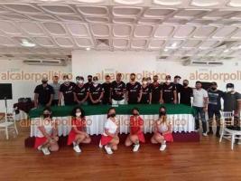 Xalapa, Ver., 25 de octubre de octubre de 2021.- Jugadores del Águila de Veracruz hablaron de su participación en la Liga Invernal Mexicana y sus expectativas dentro del circuito profesional.