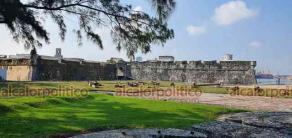 Veracruz, Ver., 26 de octubre de 2021.- La fortaleza de San Juan de Ulúa quedó abierta al público luego de permanecer cerrada desde marzo del 2020 debido al confinamiento por la contingencia sanitaria.